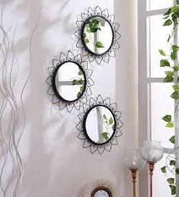 Hosley Decorative round Iron wall mirrors