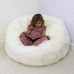 Mollismoons Luxury fur leather bean bag
