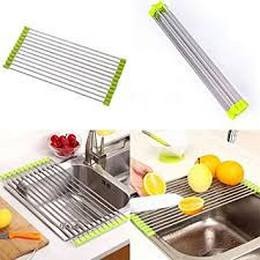 PHD store sink stainless steel dish drying folding rack