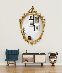 Polyworm Bernini Wall Oval Mirror
