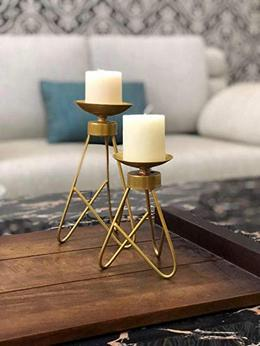 Velleitie Gold Candle Holder Set of 2