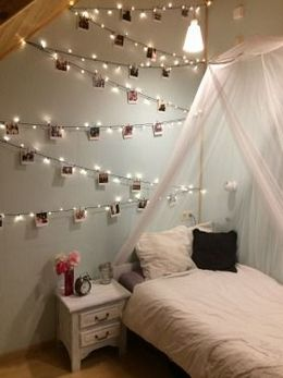 fairy lights bedroom decor ideas