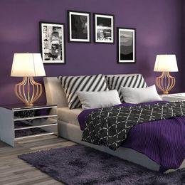 violet colored palette combination for bedroom