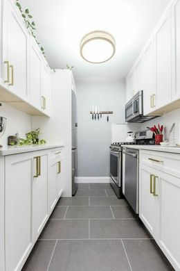 white colored kitchen interior and wall