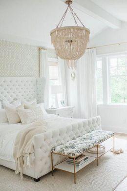 white colored palette combination for bedroom decor ideas