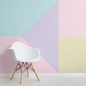 Multi coloured Pastel Wallpaper Mural