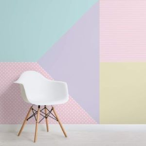 Multi coloured Pastel Wallpaper Mural