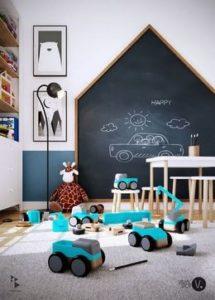 amazing chalkboard wall for kids room