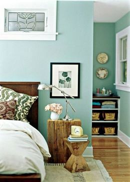 green colored palette combination for bedroom