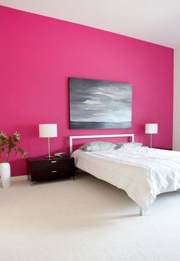pink colored palette combination for bedroom