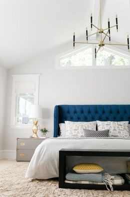 white colored palette combination for bedroom