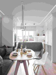 A small kitchen interior design and decor