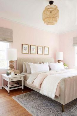 blush pink colored palette combination for bedroom