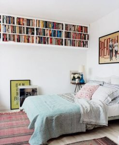 book storage space in bedroom