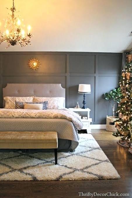 grey color palette bedroom decor