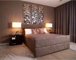 modern look brown palette bedroom decor