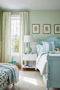 sea green colored palette combination for bedroom
