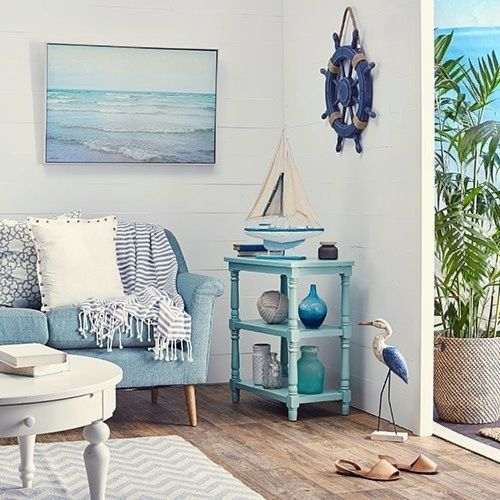 Blue Beachy bedroom